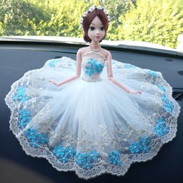 $enCountryForm.capitalKeyWord Australia - A Doll Wedding Dress Vehicle Barbara Than A Doll Automobile Goods Of Furniture For Display Rather Than For Use A Doll Blue White Skirt