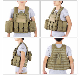 Discount tactical vest airsoft paintball - CS Tactical Hunting Vest Molle Military Waistcoat Assault Plate Carrier Vest Airsoft Paintball Combat Vest with Magazine