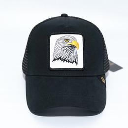 $enCountryForm.capitalKeyWord UK - Summer Trucker Hat Snapbacks Animal Embroidery   Designer Curved Mesh Baseball Cap For Adults Mens Womens Sun Visor Wholesale