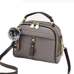 adc8d6b1c4c2 2019 Women Shoulder Bags Crossbody Bag For Women Handbag Pu Leather Full  Moon Candy Color Cute With Fur Ball Shell Shape Bag
