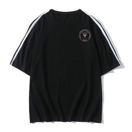 Inter Miami FC Soccer T-shirt de football Maillots manches courtes T-shirt de sports d'été formation de football T-shirts de football T-shirts pour homme
