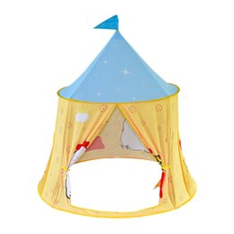 tent castle NZ - HOT-Children's Camping Tent Princess Theater Castle Portable Tent Children's Game