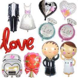 $enCountryForm.capitalKeyWord Australia - Wedding Decorations Groom Bride Love Balloons Bride Mr Mrs Ballon Party Diy Decoration
