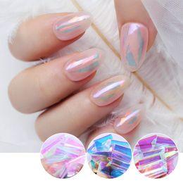 Fashion nails Foils online shopping - 1 Box Pack Nail Foils Semi transparent Colorful Glass Paper Nail Art Transfer Sticker Decal Fashion DIY Decoration