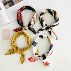small scarves for women wholesale Canada - 2020New Fashion Silk Scarf Square Scarf Hair Tie Band for Business Party Women Elegant Small Vintage Skinny Retro Head Neck Silk Satin Scarf