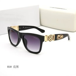 Clear Resin Coating Australia - style italy brand medusa sunglasses half frame women men brand designer uv protection sun glasses clear lens and coating lens sunwear