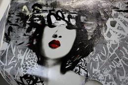 $enCountryForm.capitalKeyWord Australia - Japan girl Geisha street art graffiti Hand Painted & HD Print Wall Art Home Decor Oil painting on High Quality canvas Multi Sizes g178