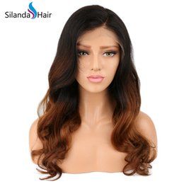Cheap Full Ombre Wigs Australia - Silanda Hair Cheap Ombre #T 1B 4 30 Body Wave Brazilian Remy Human Hair Lace Front Full Lace Wigs For Women Free Shipping