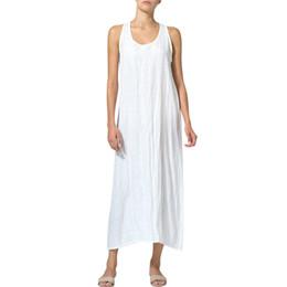 Women's Clothing Symbol Of The Brand Sleeveless Solid Vestido Femme Bib Dress Women Casual Cotton Linen Dress Pocket Straight Sundress Button Tank Dresses Plus Size