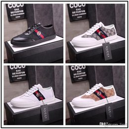 $enCountryForm.capitalKeyWord NZ - 19ss New Arrival Italian New Designer Classic Luxury Men Shoes Sneakers Breathable Denim Printed Black White Size 38-45 With Box