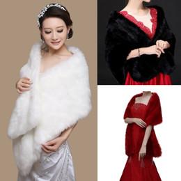 Bridal fur shrugs online shopping - New x32cm Long White Black Red Faux Fur Shrug Cape Stole Wrap Wedding Bridal Special Occasion Shawl