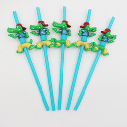 5cm children cartoon Australia - Cartoon Straws Animal Drinking Straws with Cleaning Brushes for Children Kids Party Decoration Birthday Supplies