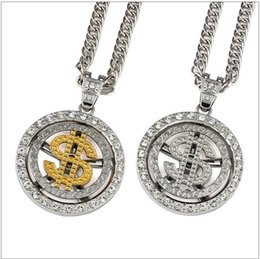 $enCountryForm.capitalKeyWord Australia - Fashion Coin Dollar Necklaces Men Luxury Design Money Coin Necklaces Full Diamond Pendant Necklace Fashion Accessories Party Gift