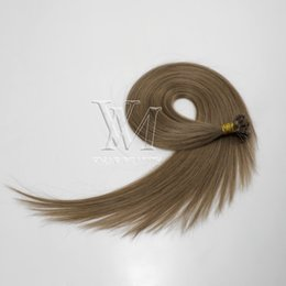 european straight human hair extensions Australia - Double Drawn 1g*50 Stand 50g Brazilian European Flat-tip Straight Pre-bonded Virgin Remy Keratin Fusion Human Hair Extensions