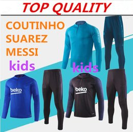Children s suits boys online shopping - kids long sleeve tracksuit Training suit survetement jacket SUAREZ COUTINHO Training suit Children boys football chandal