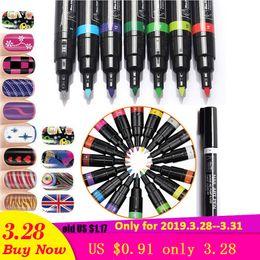 $enCountryForm.capitalKeyWord Australia - 1pcs 3D Marker Pen Watercolor Brush Marker Pen nail art tools MarkerSketch Drawing Paint Nail Beauty Art Supplies