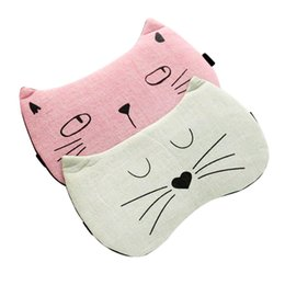 Wholesale Four Seasons Cartoon Cat Sleep Mask Eye Mask Blindfold Airplane Breathable Mask Best Cover for Nap Or Travel for Men Women Kids One Size
