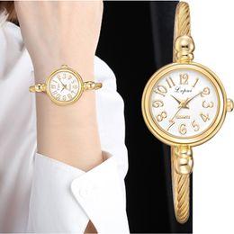 $enCountryForm.capitalKeyWord Australia - Lvpai Women Small Gold Bangle Bracelet Luxury Watches Stainless Steel Ladies Quartz Wristwatch Brand Casual Women Dress Colck