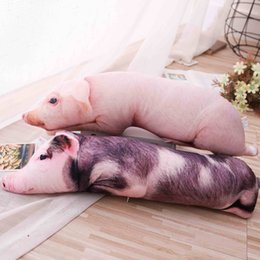 pig statues NZ - Simulated Sleeping Pig Plush Pillow Animals Stuffed Pillows Kids Adults Pets Bolster Sofa Chair Decor Friend Gift 50 70 90 120cm