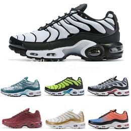 $enCountryForm.capitalKeyWord NZ - 2019 Mens Plus Tn Rainbow Shoes Design Men Air Plus QS Sports Shoes Cheap Tn Requin Chaussures Triple Black White Red Trainer Sneakers