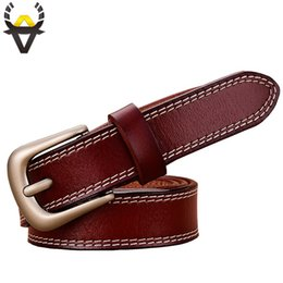 $enCountryForm.capitalKeyWord Australia - Fashion Genuine leather belts for women stitching up thin belt woman Pin buckle strap female High quality second layer cowskin