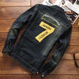 $enCountryForm.capitalKeyWord Australia - New Top Quality Denim Jackets Men Coat 2018 Spring Embroidery Clothing Long Sleeve Male Wear Jeans Jackets Free shipping 5XL