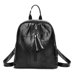 $enCountryForm.capitalKeyWord NZ - Selling New Autumn And Winter Fashion Trends Europe And The United States Tassel Backpack Wild Leisure Travel Bag