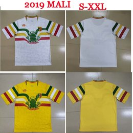 edcfc6fe9 S-XXL 2019 African Cup National Team Mali Soccer Jerseys Custom Any Name  Any Number Home Yellow Away White Concept 19 20 Football Jersey Shi