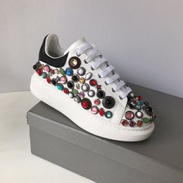Spring Water Quality Australia - Deluxe Quality Designer spring new styles personality water drill small white shoes thick bottom round head leisure sneakers size:35-40 3A