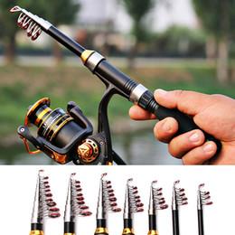 Discount ultralight glasses - Portable Fishing Rod 1.0m - 2.3m Retractable Ultralight Fiberglass Fishing Rod Pole