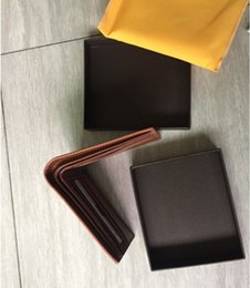 $enCountryForm.capitalKeyWord Australia - Paris Style Luxury Designer Mens Famous Men Small Wallet Coated Canvas With Genuine Leather Multiple Short Bifold Wallets Purse With Box