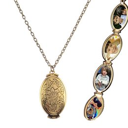 flower bird pendant necklace Australia - Magic Photo Pendant Memory Expanding Photo Locket 4 Slot Photo Frame Necklace Plated Flower Bird Fashion Box Necklaces