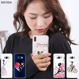 Iphone case metal gIrl online shopping - Phone Cases Silicone soft Cover for Samsung S10 S9 S8 S7 S6 Plus Edge E Note Pro case Butterfly Dancing Girl