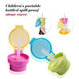 $enCountryForm.capitalKeyWord NZ - No Spill Choke Cute Water Bottle Adapter Cap With Tube Drinking Straw For Baby Infants Silica Gel Portable Hygiene Drink Feeder