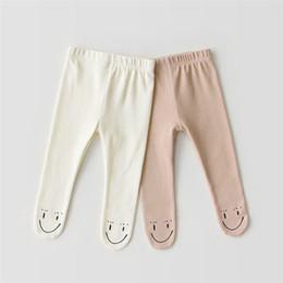 $enCountryForm.capitalKeyWord Australia - INS Toddler Girls Leggings Spring Autumn Smile Knit Cotton Cat Ears Designs Newborn Tights Newest Quality Kids Girls Pants