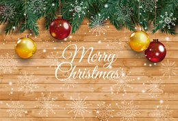 China Merry Christmas Photographic Backgrounds Newborn Wood Texture Photography Backdrops For Photo Studio supplier backdrop for newborn photography suppliers