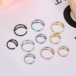 Indian Nose Piercing Australia - Metal Moon Nose Ring Hoop Indian Nose Rings Septum Ring Jewelry Piercing Small Body Jewelry Fashion Drop Shipping