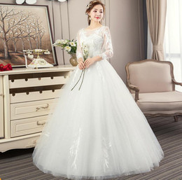 $enCountryForm.capitalKeyWord UK - Vintage A-line Embroidery Arab Wedding Dress 2019 long Sleeve Plus Size Appliques Tulle Wedding Gowns Bride Dress hot selling