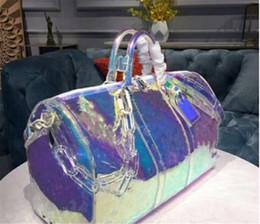 Großhandel Designer Luxus-Handtaschen Geldbeutel 50cm keepall Laser PVC Transparent Duffle Bag Brilliant Color-Gepäck-Reisetasche mit großer Kapazität Handtasche