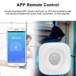 pir home alarm security Canada - WIFI PIR Motion Sensor Wireless Infrared Detector Burglar Alarm Sensor Home Security System