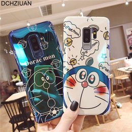 $enCountryForm.capitalKeyWord NZ - Blu-ray Shiny Silicone Phone Case For Samsung Galaxy Note 9 S8 S9 Plus Note 8 Doraemon Cute Cartoon Case Soft Cover