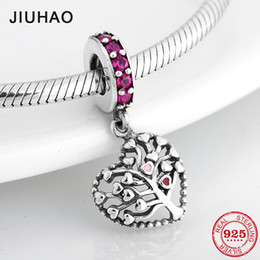$enCountryForm.capitalKeyWord Australia - High quality 925 Sterling Silver tree of Hearts Life DIY Pendants Beads Fit Original Pandora Charm Bracelet Jewelry making
