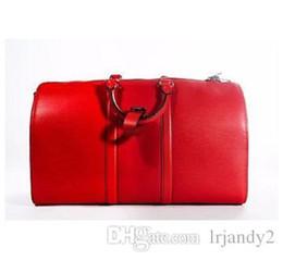 $enCountryForm.capitalKeyWord NZ - Top Quality Genuine Leather new fashion men travel bag Women Duffel Bags, brand designer luggage handbags large capacity sport bag 45CM
