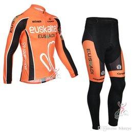 Discount jersey fdj - EUSKALTEL FANTINI FDJ team Cycling long Sleeves jersey (bib) pants sets thin quick-dry mountain bike clothes breathable