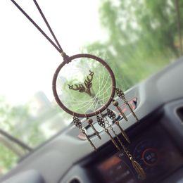 $enCountryForm.capitalKeyWord Australia - Car dreamcatcher Pendant Vintage Indian Style manual Net Ornament Handmade Wind chime Wall Hanging Kids Toys Gift Home Decor AAA883