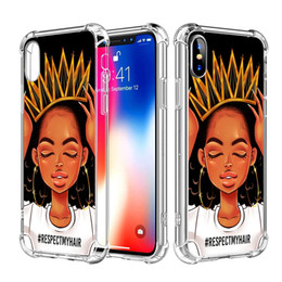 Iphone Girl Silver Case Australia - For iPhone X XS XR Max 6 6S 7 Plus iPhone 8 Plus Case African American Afro Girls Women Black Hair Colorful Watercolor Art Slim