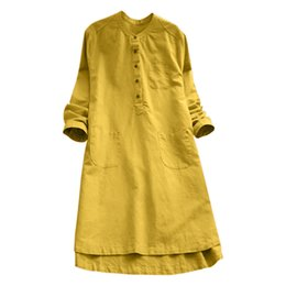 Postpartum Clothing UK - Telotuny Clothing Casual Loose Button Summer Women Cotton Postpartum Mother Dress Jl 18 Q190521