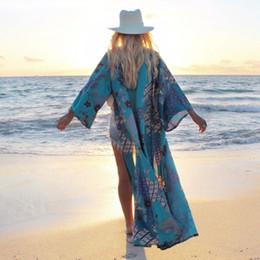 Vente en gros Vintage Ethnique Géométrique Imprimer Kimono Femmes 2018 Nouvelle Mode Cardigan Long Blouse Casual Femme Blusas Cover Up Loose