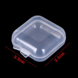 bead organizer container Australia - Mini Clear Box Jewelry Earplugs Storage Box Case Container Bead Makeup Plastic