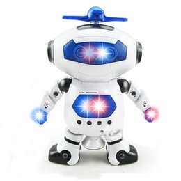 Smart Figures UK - Cute Electric Music Light Dancing Robot Smart Toys Space Walking Toys For Children Kids Music Light Action Figures Toys